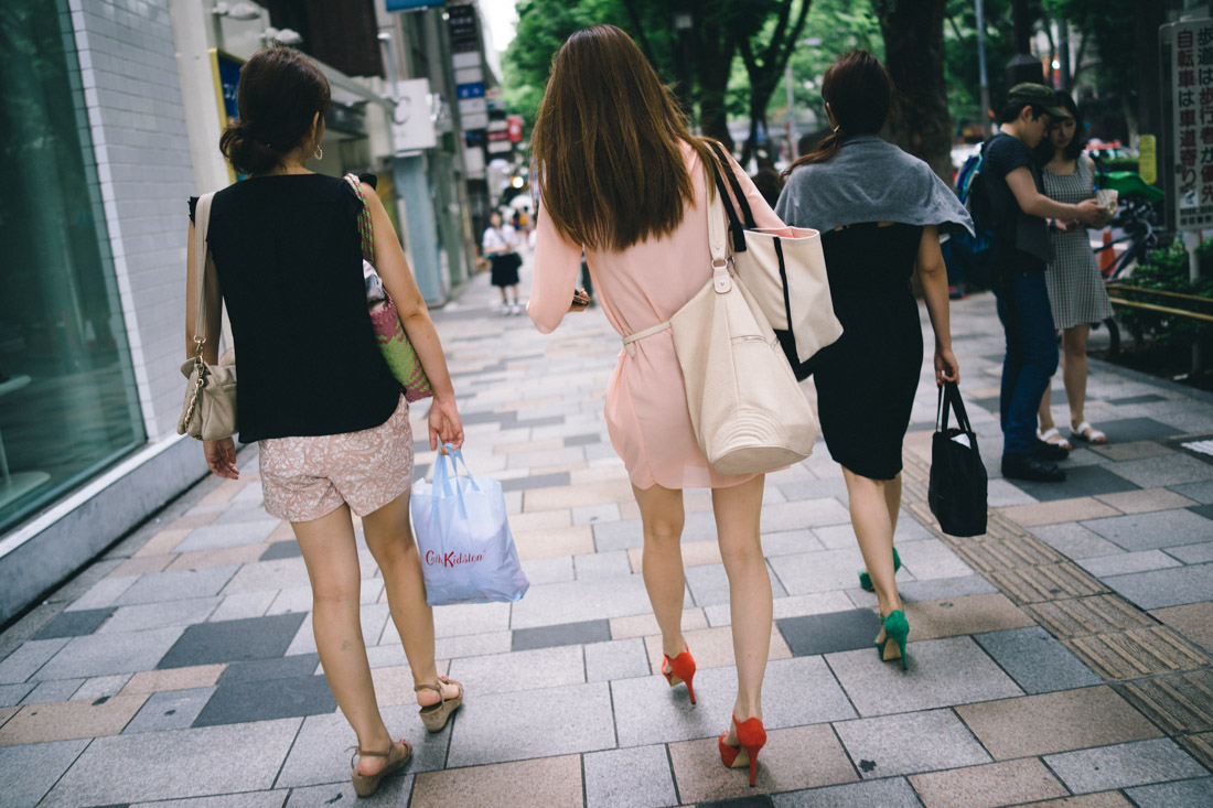 Fashionable Harajuku girls.