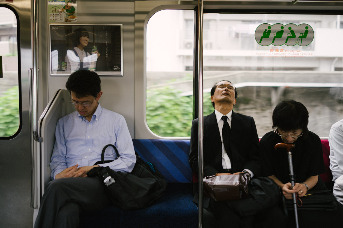 Local train to Kamakura; it took about 40 minutes which is more than enough to catch some zzzs.