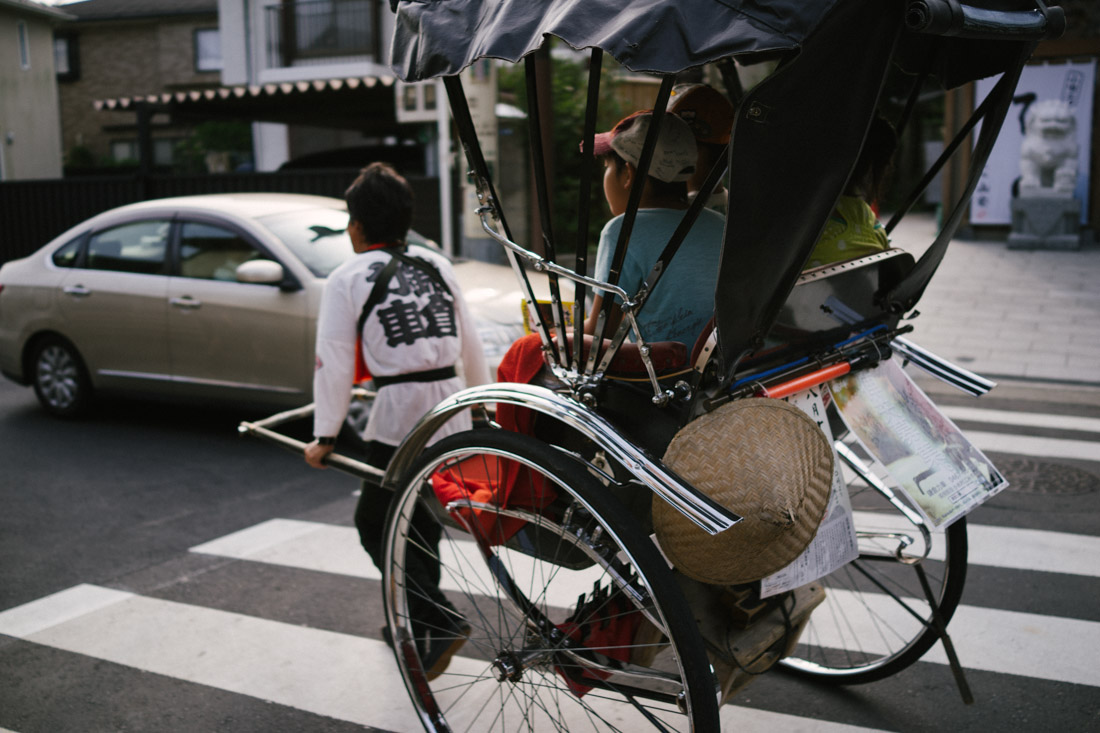 They have rickshaws in Kamakura.