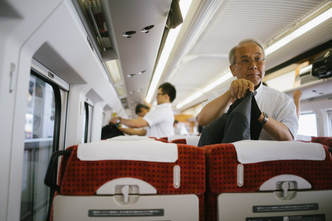 The Shinkansen is mainly used by business men.