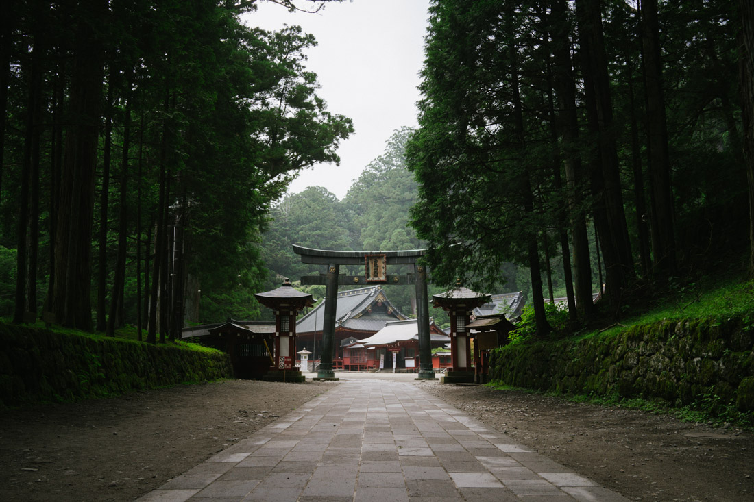 Main entrance to Futarasan shrine; straight out of a samurai's book.