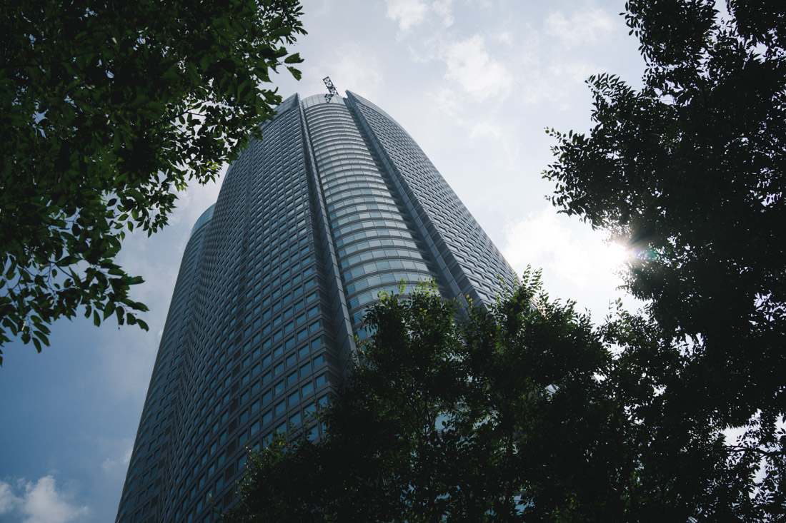 Roppongi Hills stands 235 meters tall and it houses large companies offices, restaurants, cinemas, a museum and more.