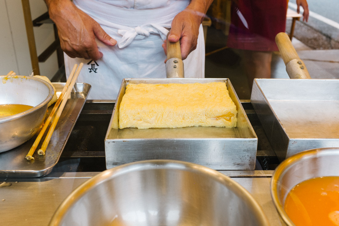 Making tamago — it's incredibly moist and sweet!