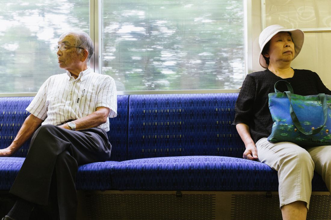 On a local train from Ustunomiya to Nikko.