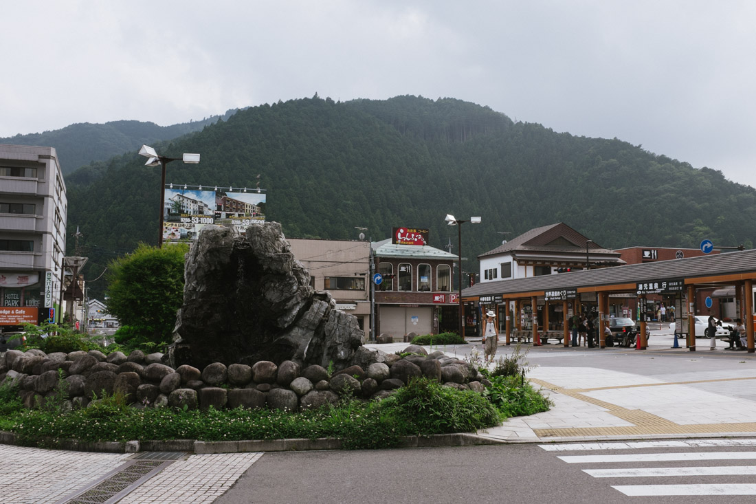 Main square in Nikko.