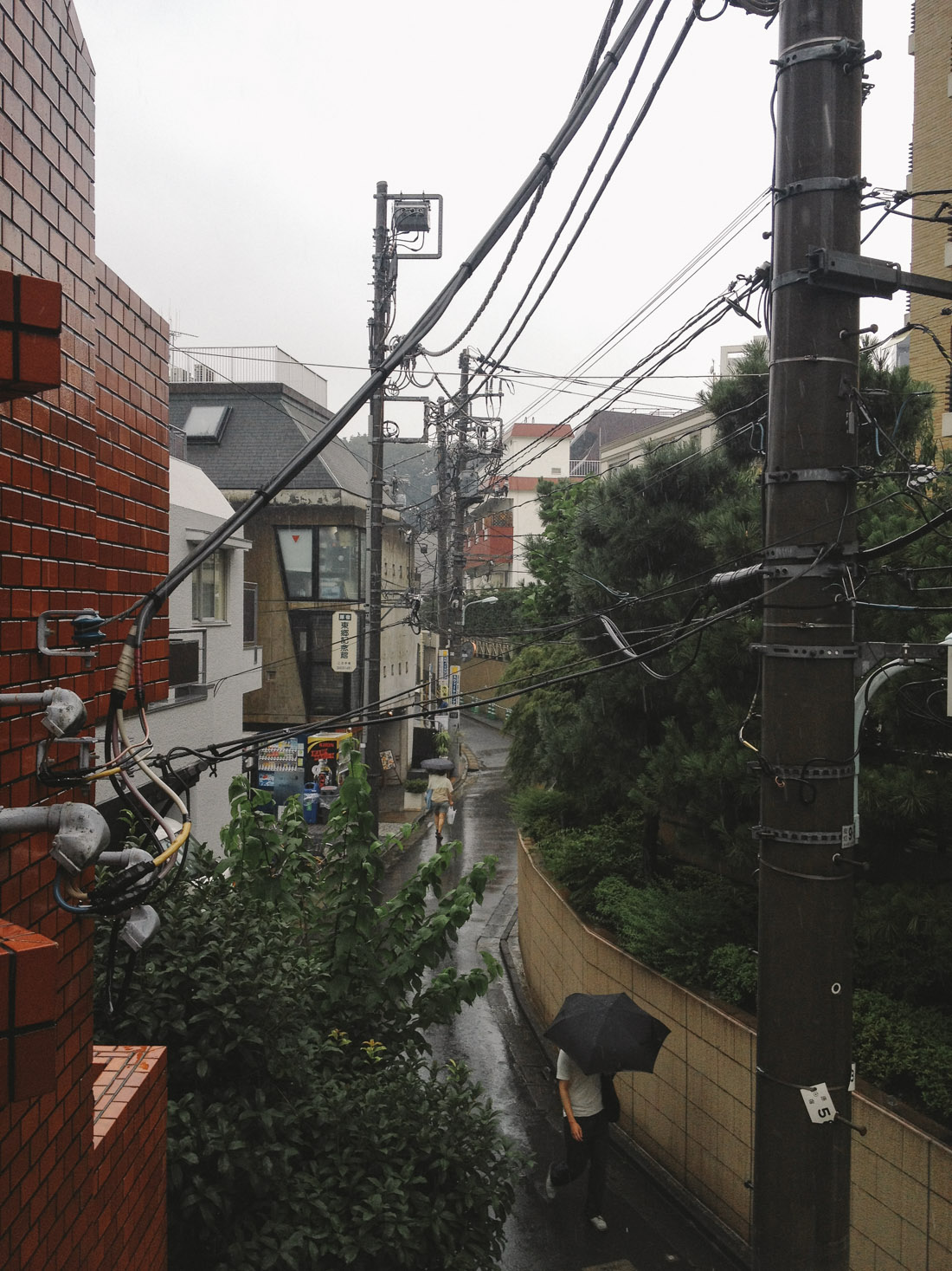 Rainy day in Tokyo