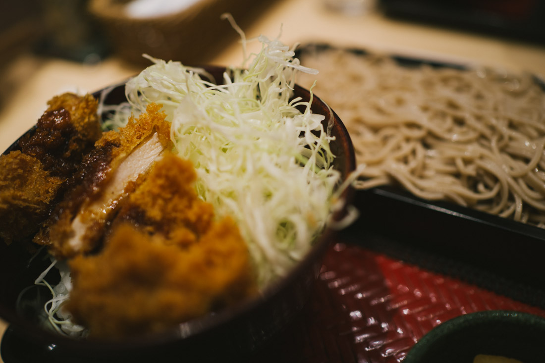 Tonkatsu with soba at Ootoya, a chain that serves good food.