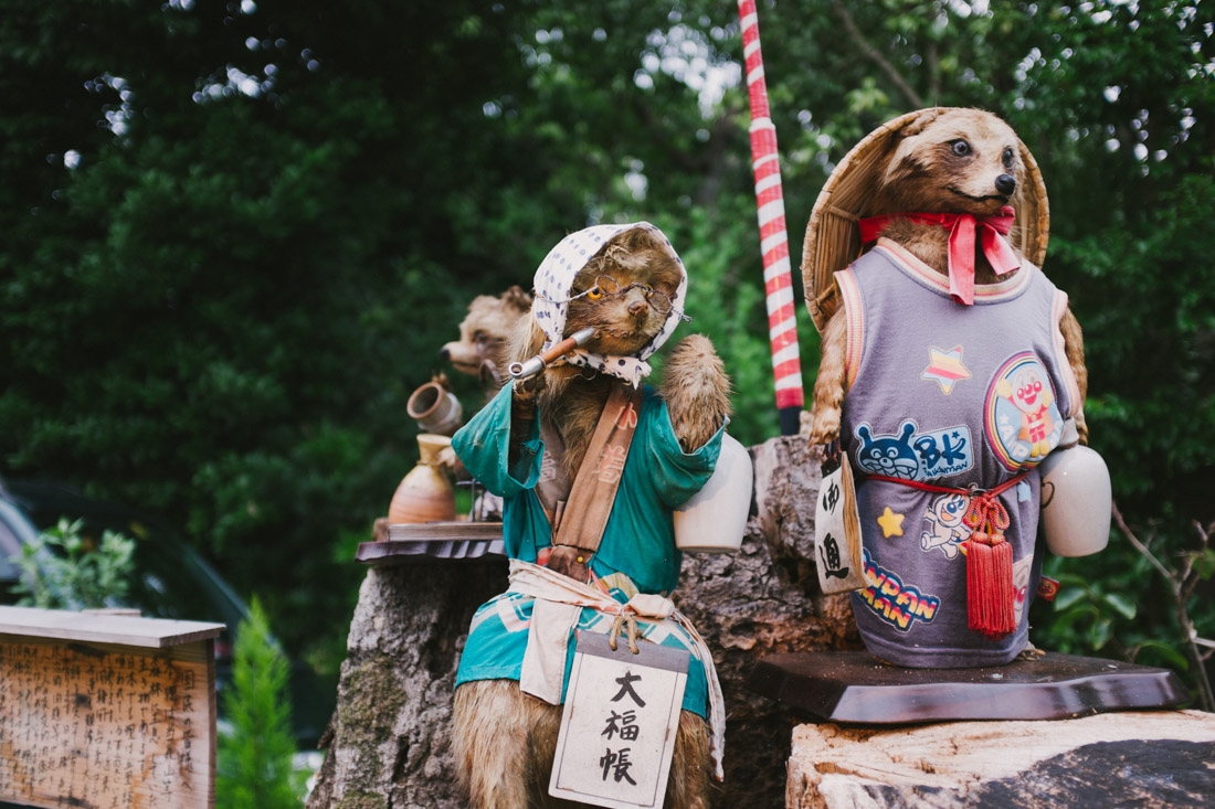 Small shrine dedicated to the food gods, here represented by these animal figures.