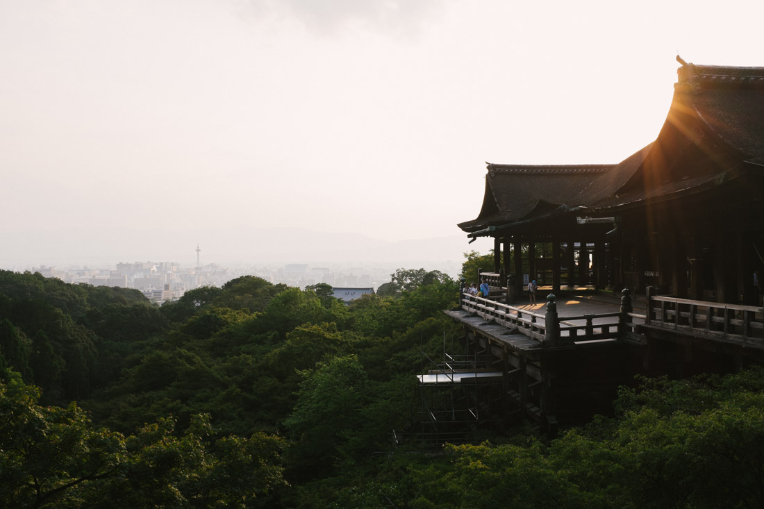 Kiyomizu-dera is popular for its large veranda on the main hall.