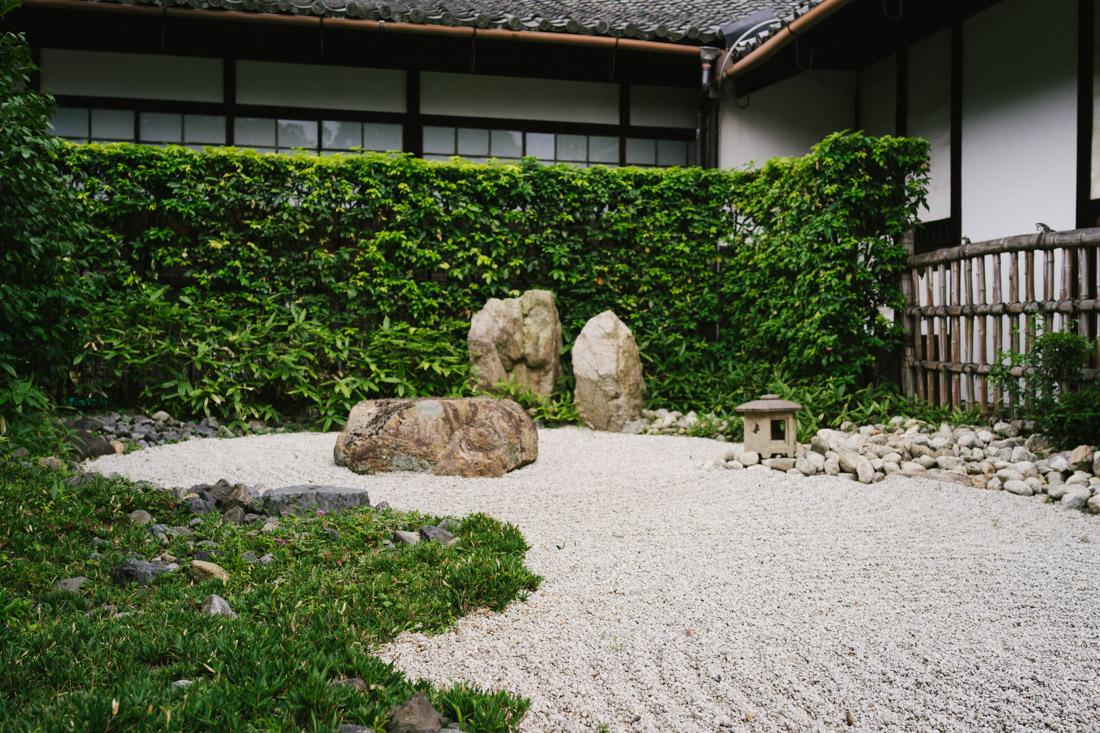We actually were drawn to Shoren-in because of this miniature zen garden.