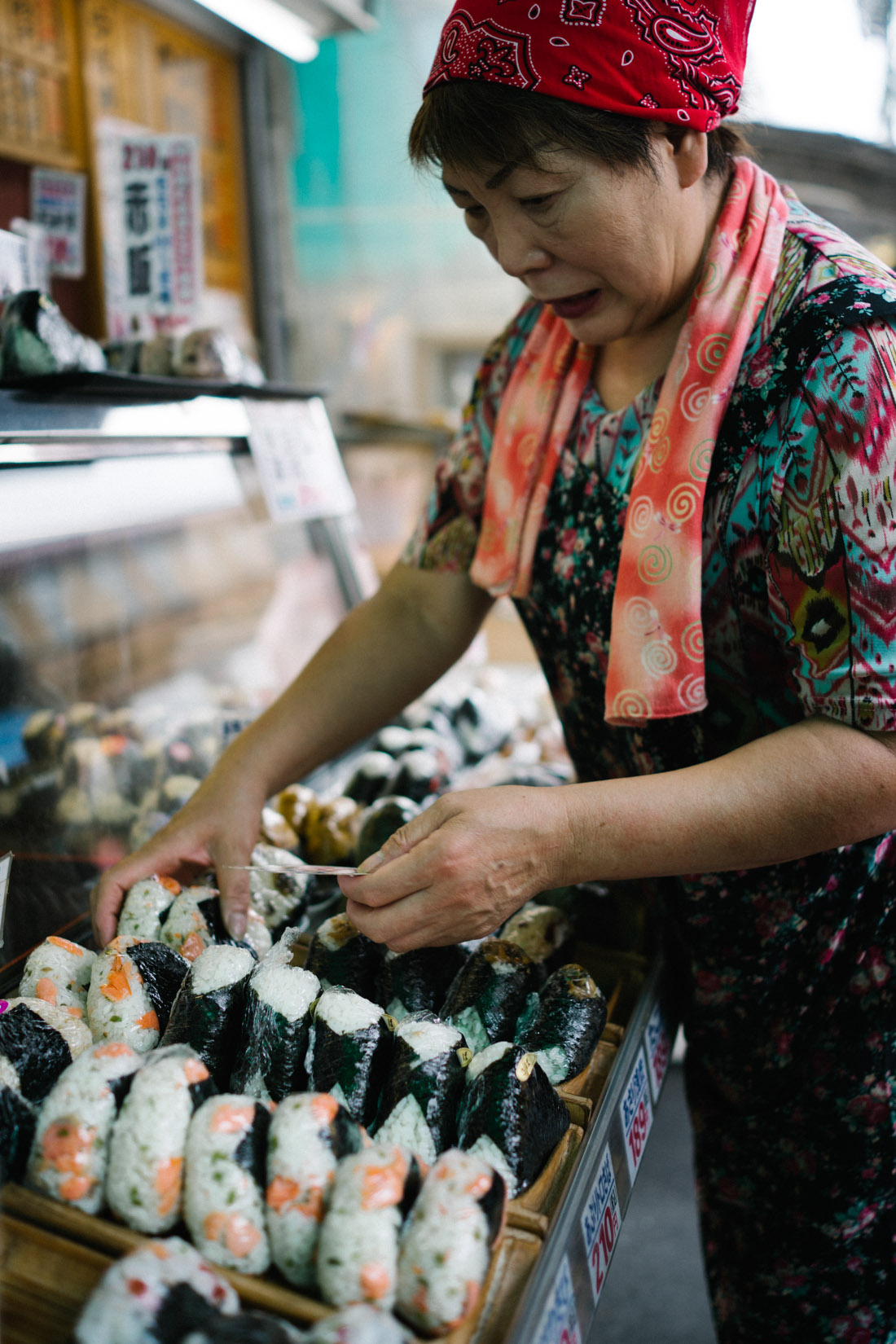 Street food stall dedicated to onigiri, the real deal.