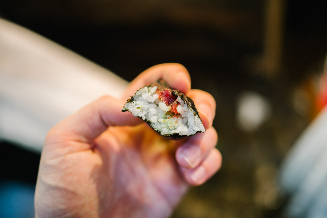 Tuna sushi roll, freshest we've tasted ever.