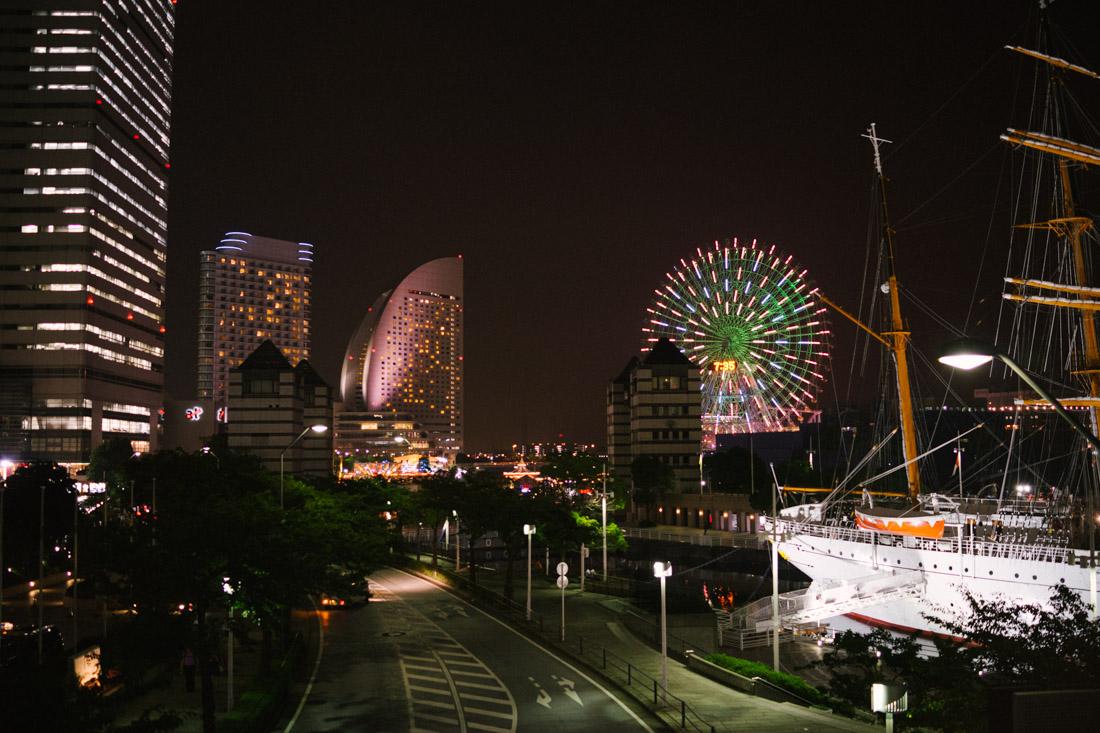 Minato Mirai, a futuristic bay promenade.