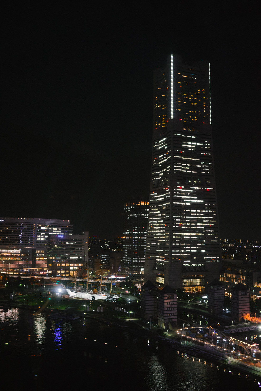 The Landmark Tower stands 296 meters tall and has more than 70 floors.