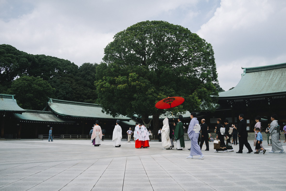 They were being escorted by the park's security guards who were adamant, but nice, that people stay clear of the ceremony.