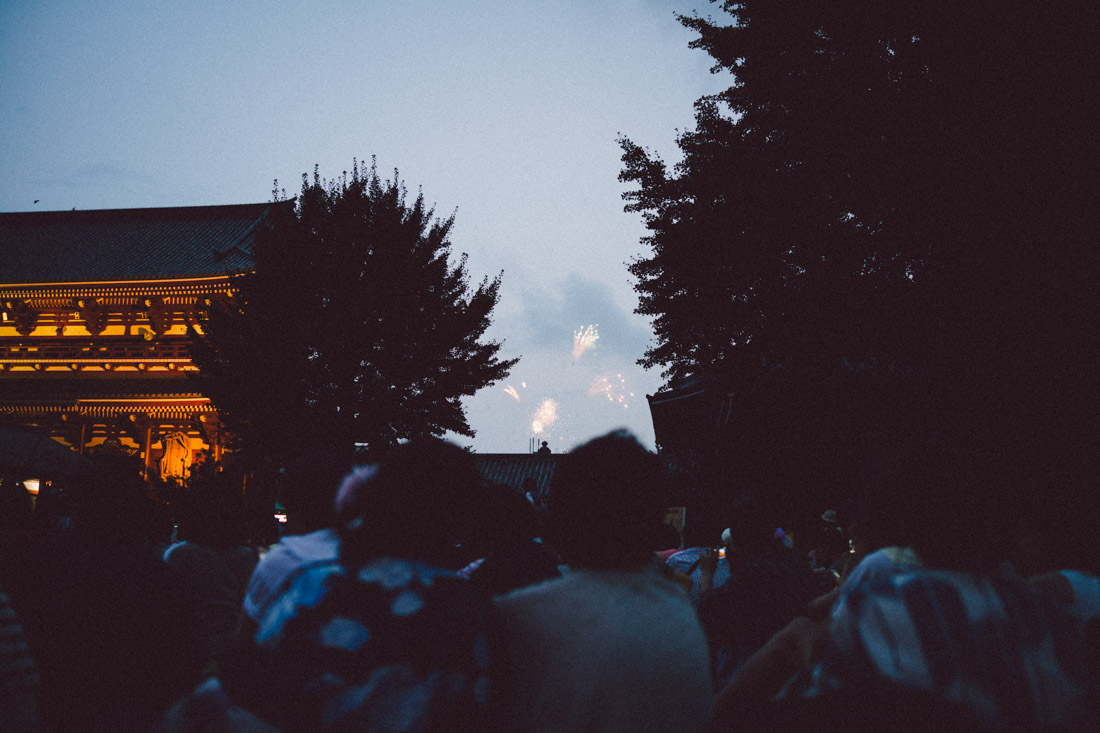 The fireworks are simple, but people seem to enjoy themselves beyond just that.