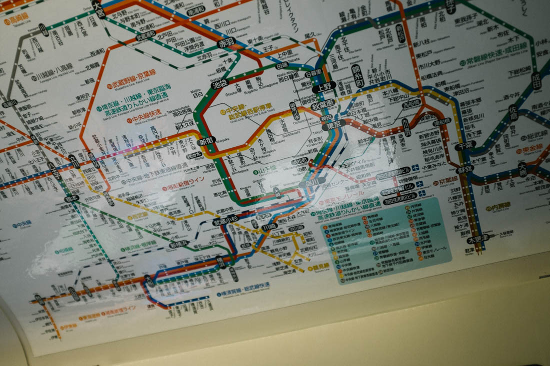 Very dense conglomerate of subway lines and several providers too