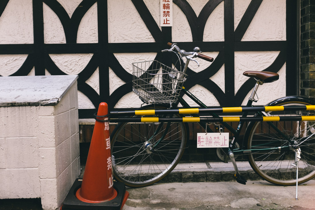 Bikes and traffic cones, they're everywhere