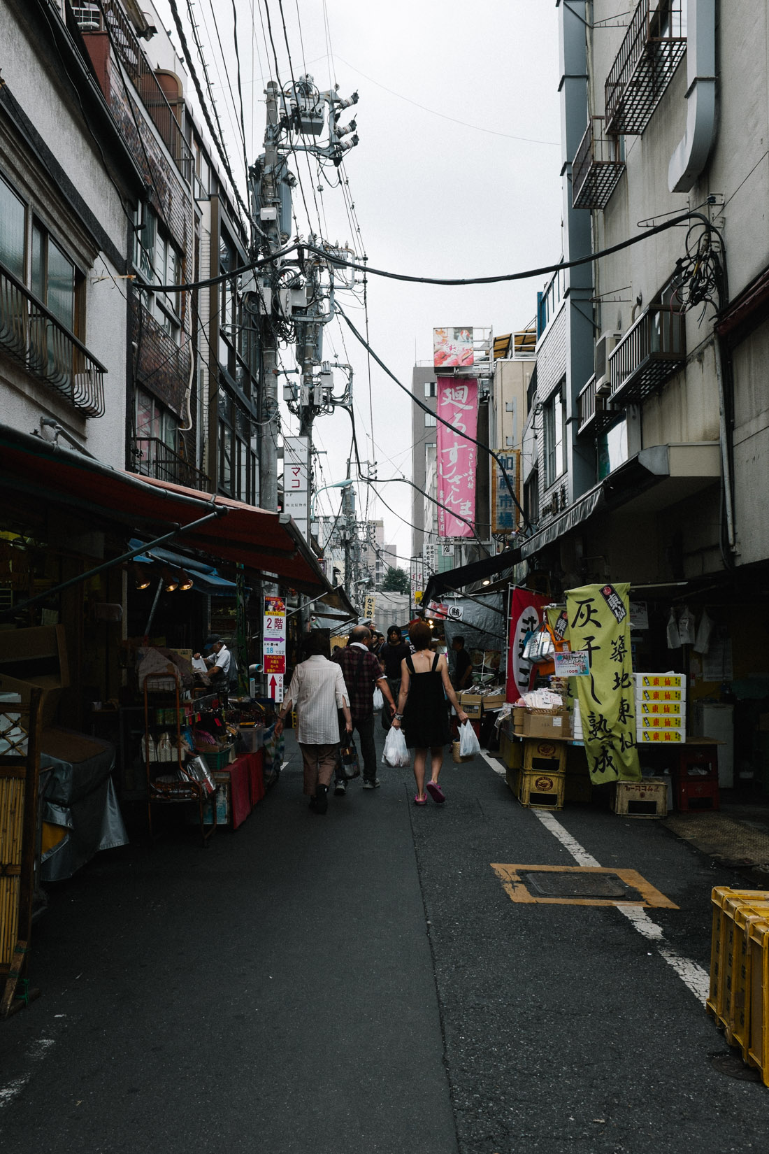 One of the many outer market streets.