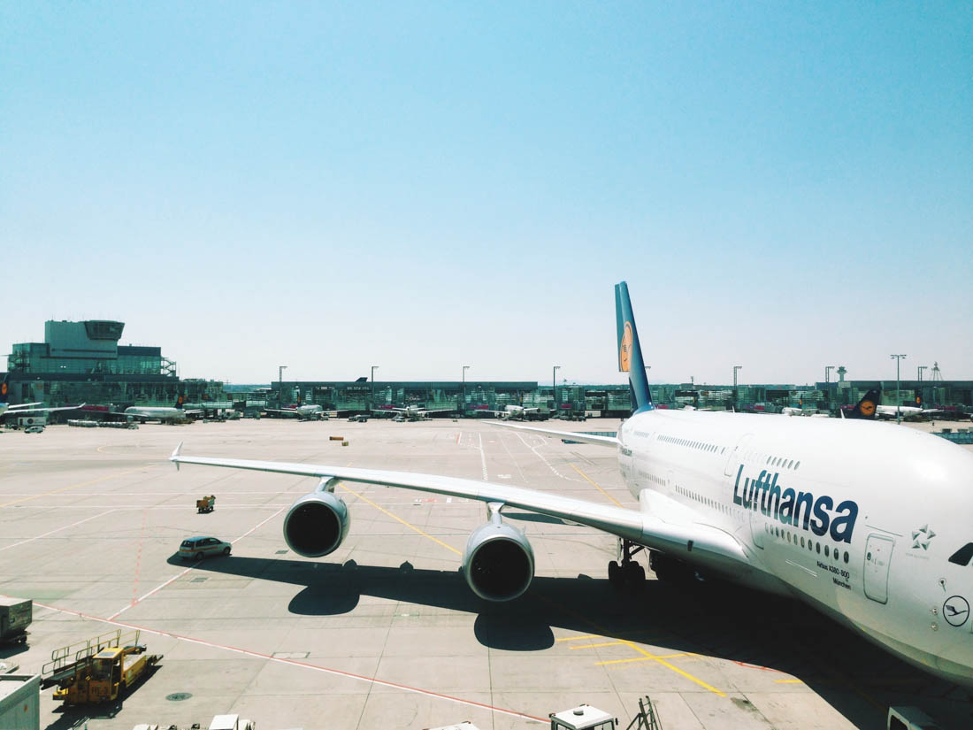 Giant A380 that we flew in to Tokyo — see the car on the plane's shade? Ridiculous scale