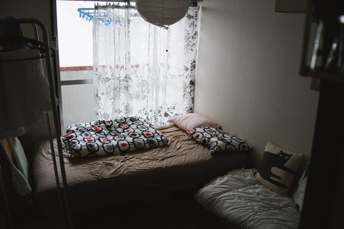 We said goodbye to Yumiko's cozy apartment.