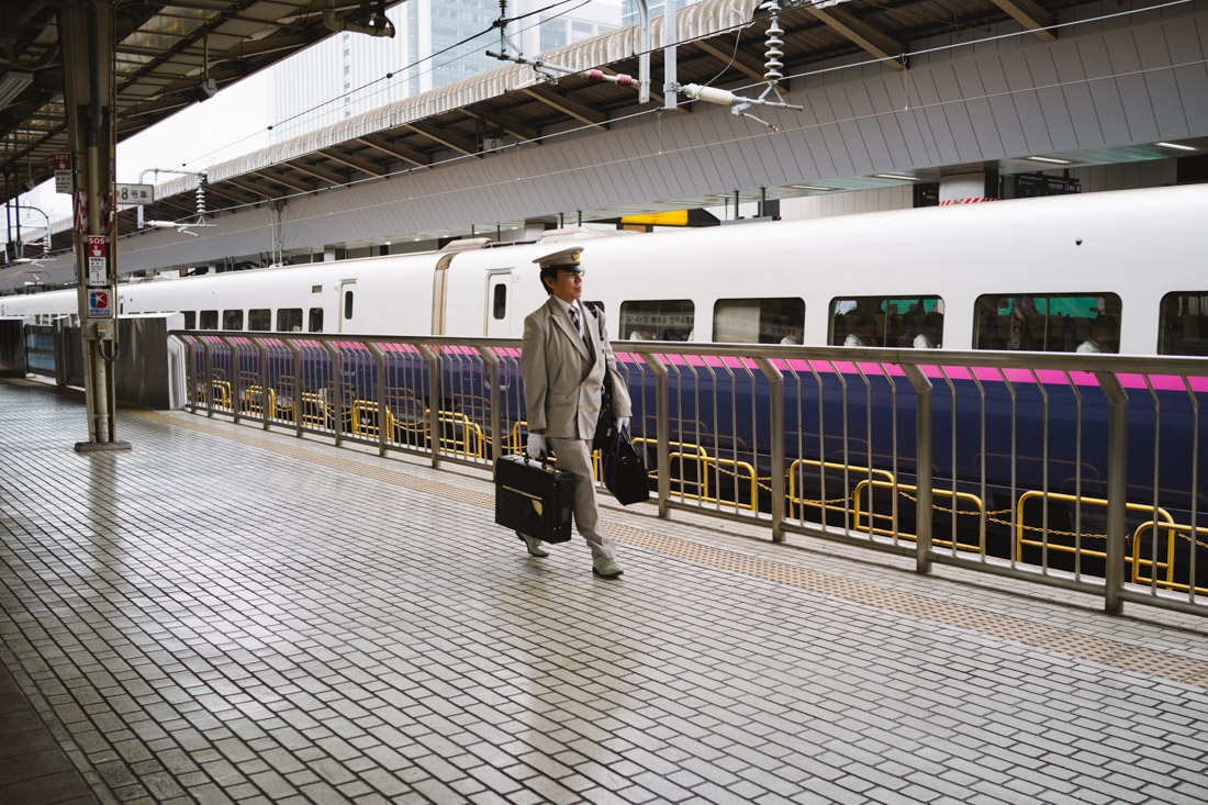 Shinkansen drivers are the equivalent to any airline pilot; and they dress accordingly.