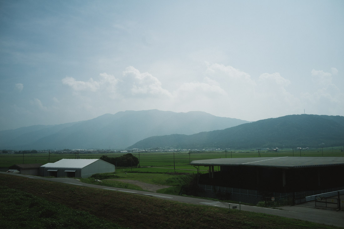The landscape slowly started to change as we left the big Tokyo outskirts.