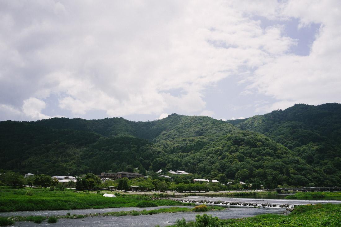 Arriving at Arashiyama we were in awe with the landscape.