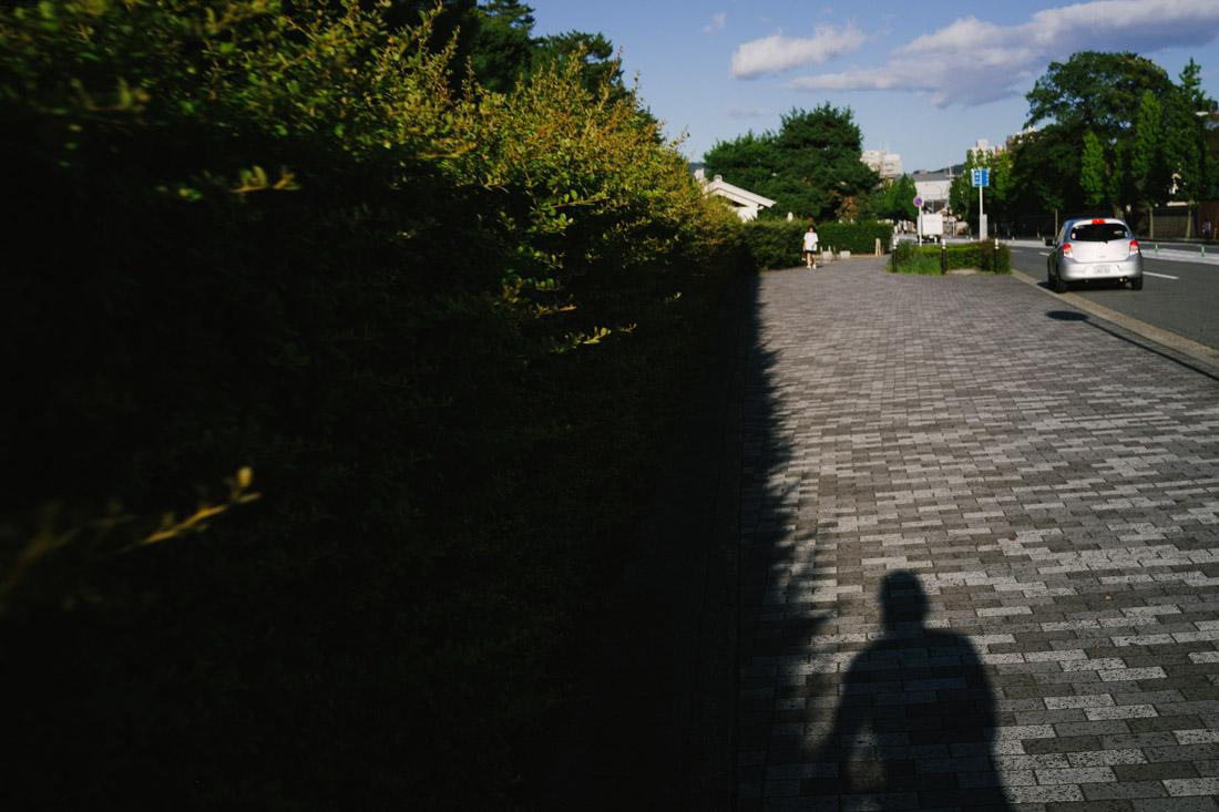 Passing by Nijo Castle.