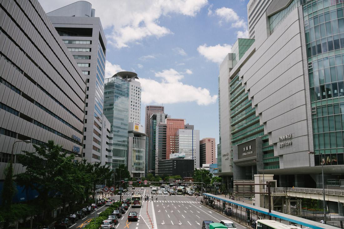 Big companies' buildings everywhere you look.