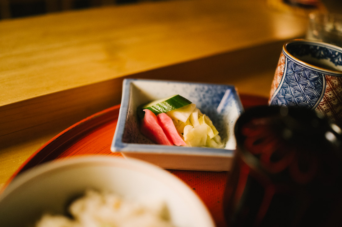 Pickles, something you can find in almost every meal in Japan.
