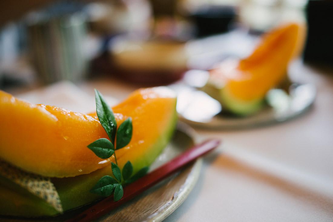Cantaloupe for dessert.