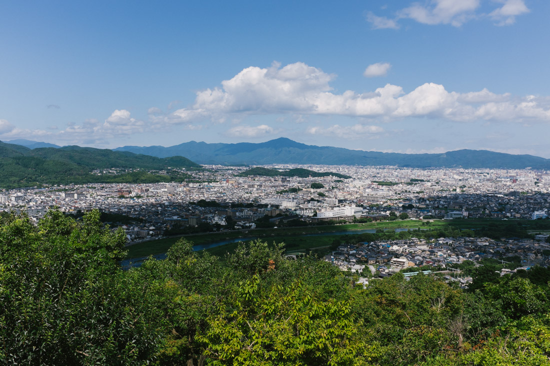 Beautiful Kyoto view from the macaque park.