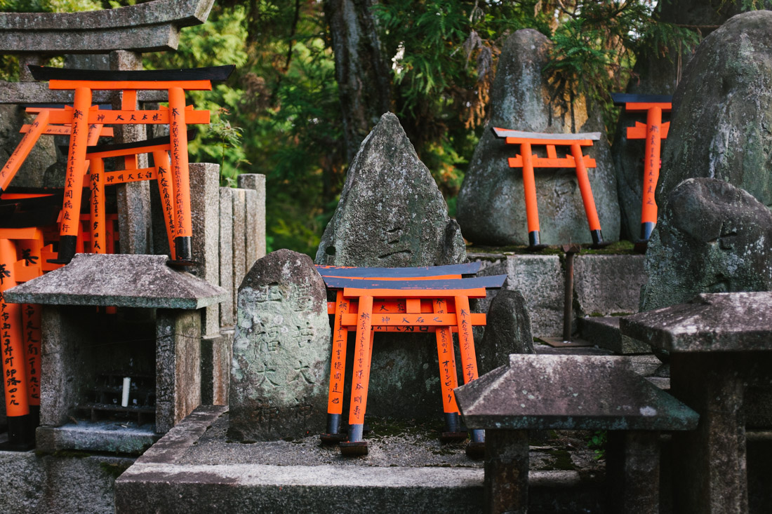 There are thousands of small shrines spread out through the mountain.